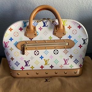Louis Vuitton White Multicolor Alma